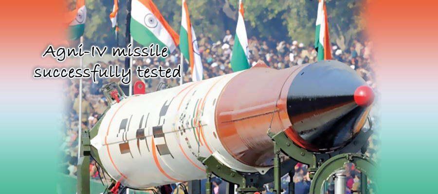 Ballistic missile Agni - IV successfully tested