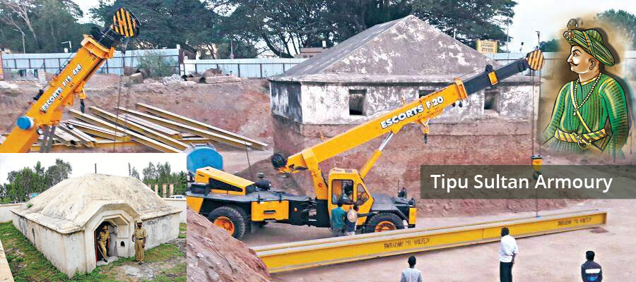 The Tipu armoury is shifting with cranes in safe selected place.
