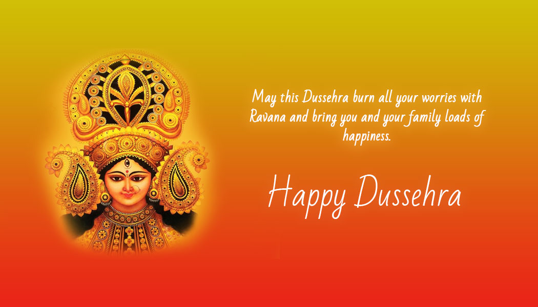 Wish you and your family a very Happy Dussehra